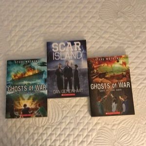 3 SC YA BOOKS. Scar Island, & Ghosts of War ExCond